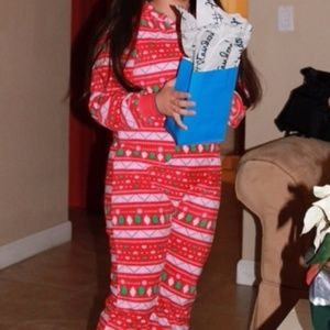 Christmas Themed Footed Onesie